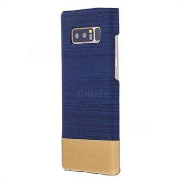 Canvas Cloth Coated Plastic Back Cover for Samsung Galaxy Note 8 - Dark Blue