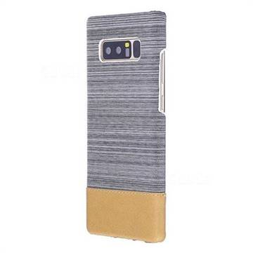 Canvas Cloth Coated Plastic Back Cover for Samsung Galaxy Note 8 - Light Grey