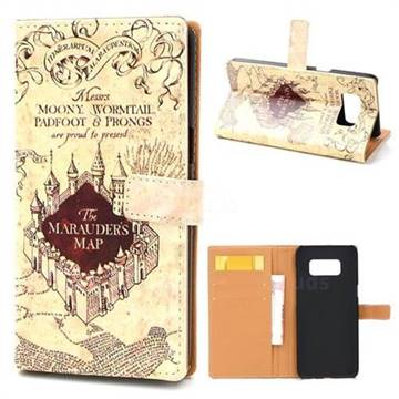 The Marauders Map Leather Wallet Case for Samsung Galaxy Note 8