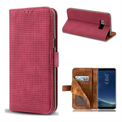 Luxury Vintage Mesh Monternet Leather Wallet Case for Samsung Galaxy Note 8 - Rose