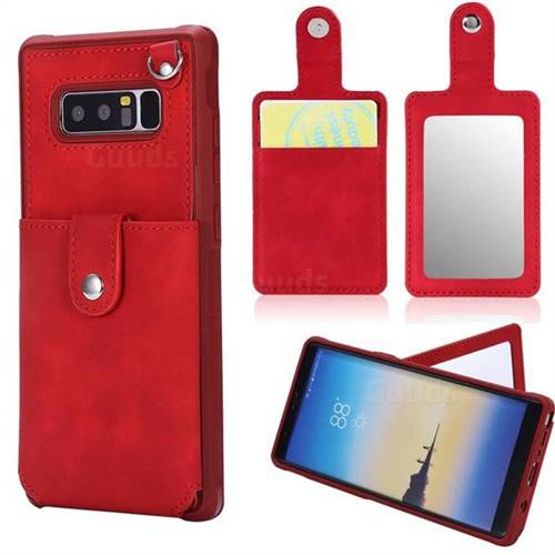1c2c90c16 Retro Luxury Anti-fall Mirror Leather Phone Back Cover for Samsung Galaxy  Note 8 - Red - Leather Case - Guuds