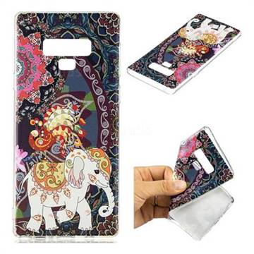 Totem Flower Elephant Super Clear Soft TPU Back Cover for Samsung Galaxy Note9