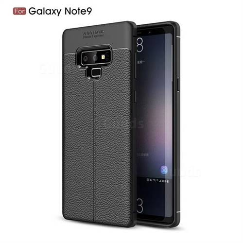 Luxury Auto Focus Litchi Texture Silicone TPU Back Cover for Samsung Galaxy Note9 - Black