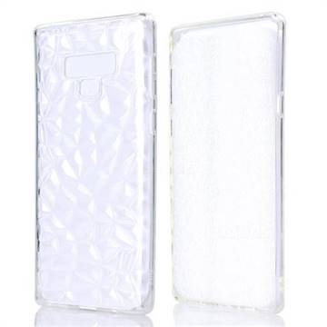 Diamond Pattern Shining Soft TPU Phone Back Cover for Samsung Galaxy Note9 - Transparent