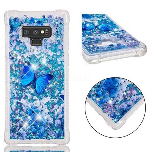 Flower Butterfly Dynamic Liquid Glitter Sand Quicksand Star TPU Case for Samsung Galaxy Note9