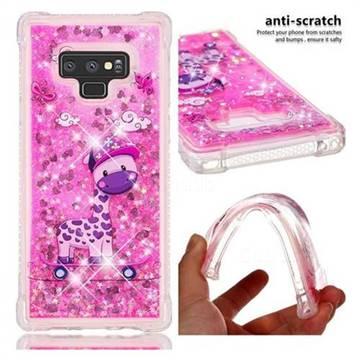 Skateboard Deer Dynamic Liquid Glitter Sand Quicksand Star TPU Case for Samsung Galaxy Note9