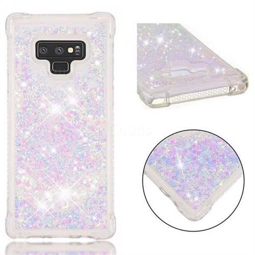 Dynamic Liquid Glitter Sand Quicksand Star TPU Case for Samsung Galaxy Note9 - Pink