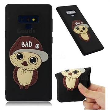 Bad Boy Owl Soft 3D Silicone Case for Samsung Galaxy Note9 - Black