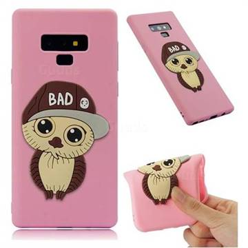 Bad Boy Owl Soft 3D Silicone Case for Samsung Galaxy Note9 - Pink