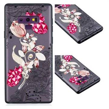 Tulip Lace Diamond Flower Soft TPU Back Cover for Samsung Galaxy Note9