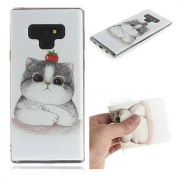 Cute Tomato Cat IMD Soft TPU Cell Phone Back Cover for Samsung Galaxy Note9