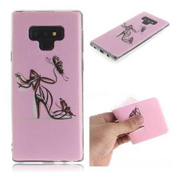Butterfly High Heels IMD Soft TPU Cell Phone Back Cover for Samsung Galaxy Note9