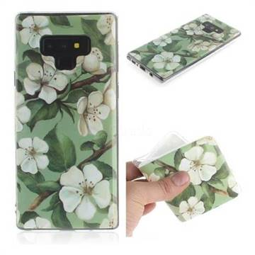 Watercolor Flower IMD Soft TPU Cell Phone Back Cover for Samsung Galaxy Note9