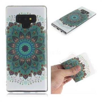Peacock Mandala IMD Soft TPU Cell Phone Back Cover for Samsung Galaxy Note9