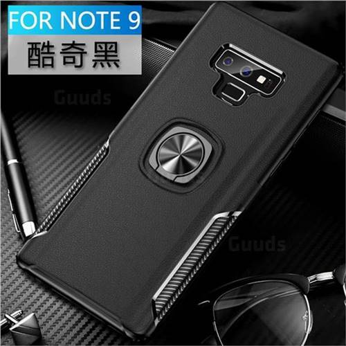 Knight Armor Anti Drop PC + Silicone Invisible Ring Holder Phone Cover for Samsung Galaxy Note9 - Black