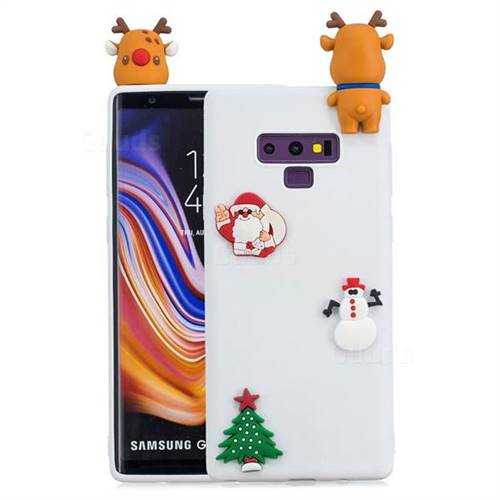 White Elk Christmas Xmax Soft 3D Silicone Case for Samsung Galaxy Note9