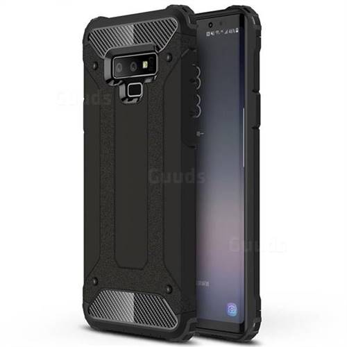 King Kong Armor Premium Shockproof Dual Layer Rugged Hard Cover for Samsung Galaxy Note9 - Black Gold
