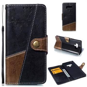 Retro Magnetic Stitching Wallet Flip Cover for Samsung Galaxy Note9 - Dark Gray