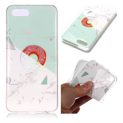 Donuts Marble Pattern Bright Color Laser Soft TPU Case for Huawei Nova 2s