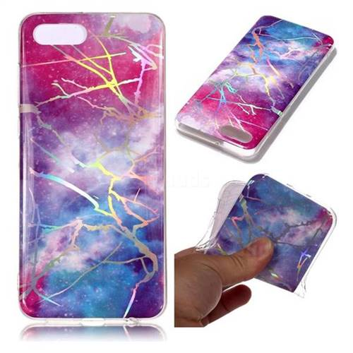 Dream Sky Marble Pattern Bright Color Laser Soft TPU Case for Huawei Nova 2s