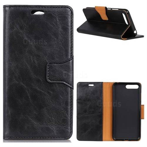 MURREN Luxury Crazy Horse PU Leather Wallet Phone Case for Huawei Nova 2s - Black