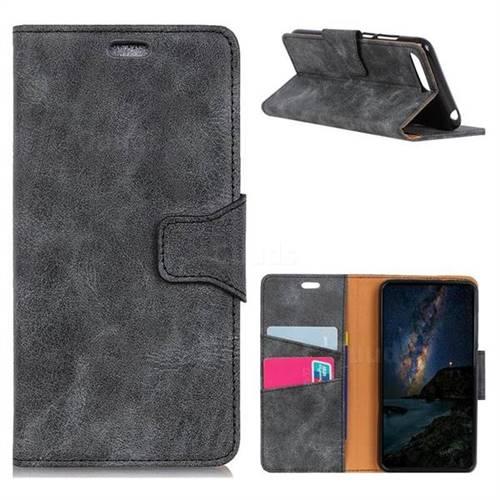 MURREN Luxury Retro Classic PU Leather Wallet Phone Case for Huawei Nova 2s - Gray