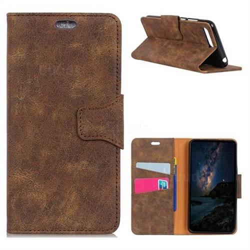 MURREN Luxury Retro Classic PU Leather Wallet Phone Case for Huawei Nova 2s - Brown