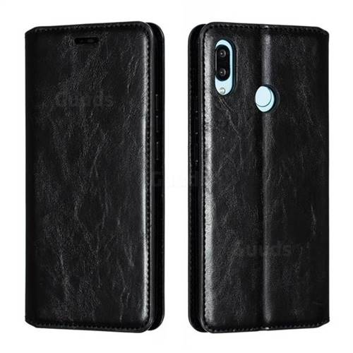 Retro Slim Magnetic Crazy Horse PU Leather Wallet Case for Huawei Nova 3 - Black