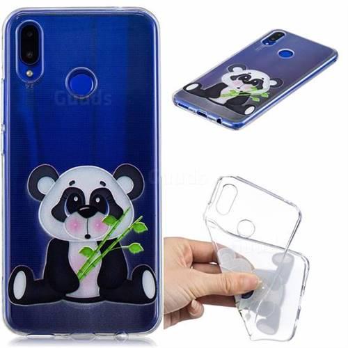 Bamboo Panda Clear Varnish Soft Phone Back Cover for Huawei P Smart+ (Nova 3i)