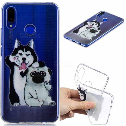 Selfie Dog Clear Varnish Soft Phone Back Cover for Huawei Nova 3i