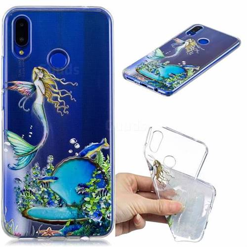 Mermaid Clear Varnish Soft Phone Back Cover for Huawei Nova 3i
