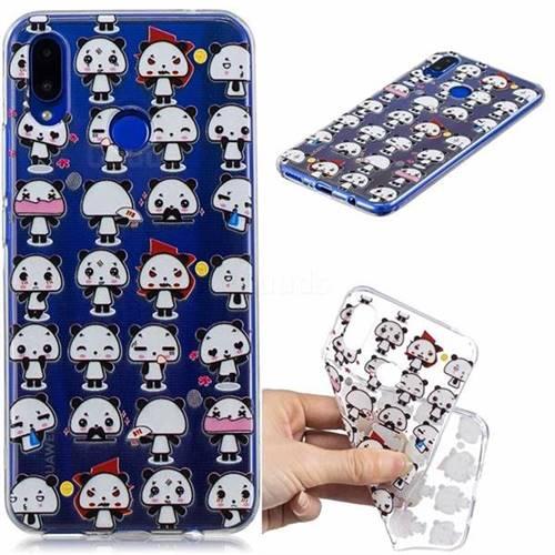Mini Panda Clear Varnish Soft Phone Back Cover for Huawei P Smart+ (Nova 3i)