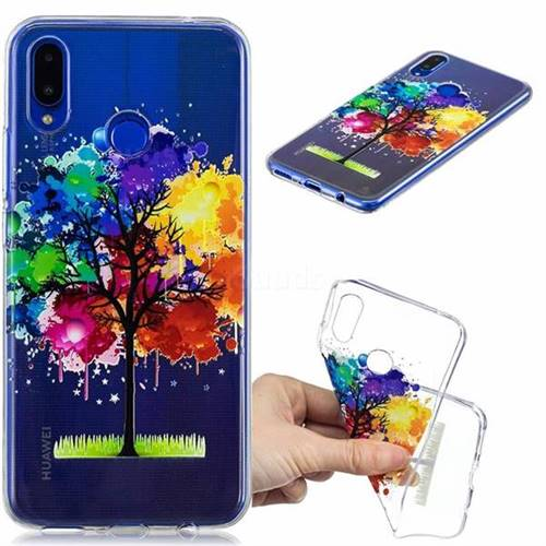 Oil Painting Tree Clear Varnish Soft Phone Back Cover for Huawei P Smart+ (Nova 3i)