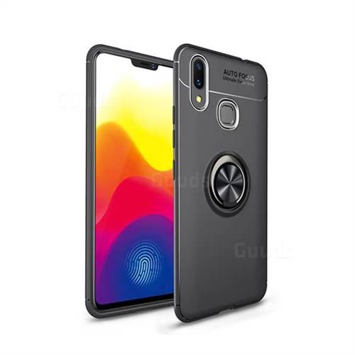Auto Focus Invisible Ring Holder Soft Phone Case for Huawei Nova 3i - Black