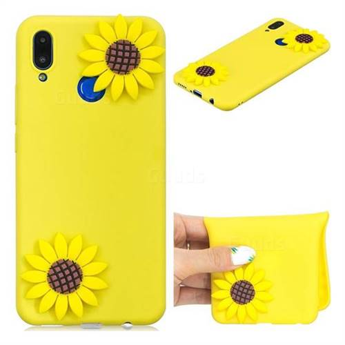 Yellow Sunflower Soft 3D Silicone Case for Huawei Nova 3i