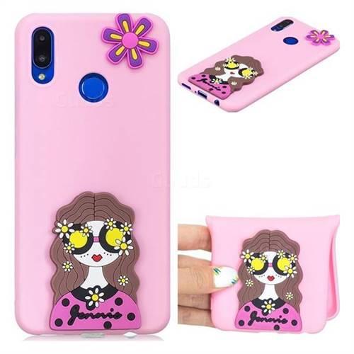 Violet Girl Soft 3D Silicone Case for Huawei Nova 3i