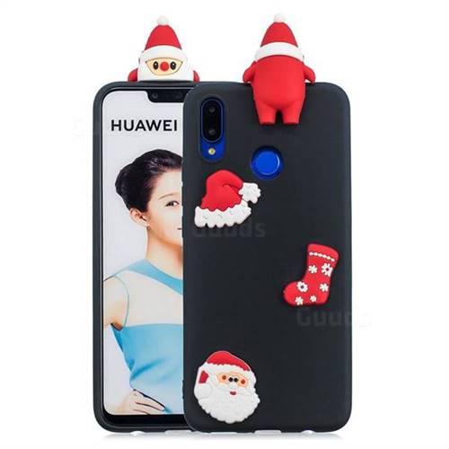 Black Santa Claus Christmas Xmax Soft 3D Silicone Case for Huawei P Smart+ (Nova 3i)