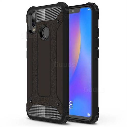 King Kong Armor Premium Shockproof Dual Layer Rugged Hard Cover for Huawei Nova 3i - Black Gold