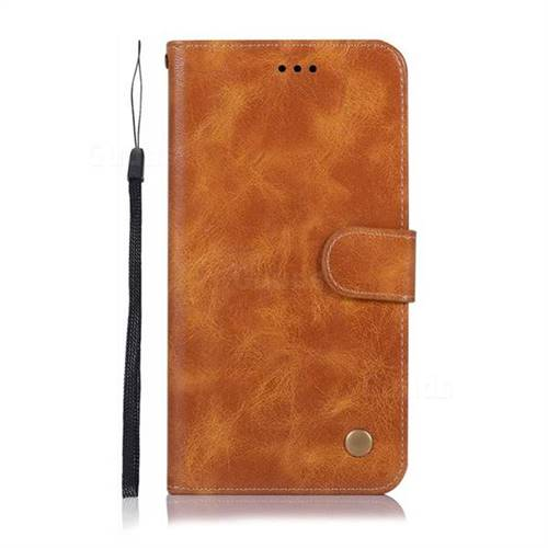 new arrival 997fc 6e956 Luxury Retro Leather Wallet Case for Huawei Nova 3i - Golden