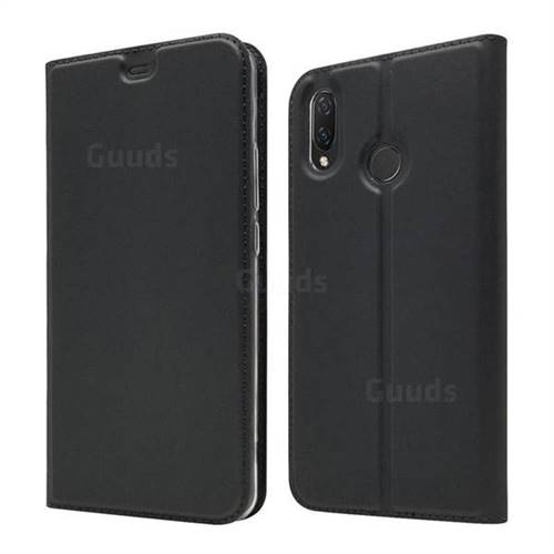 Ultra Slim Card Magnetic Automatic Suction Leather Wallet Case for Huawei Nova 3i - Star Grey