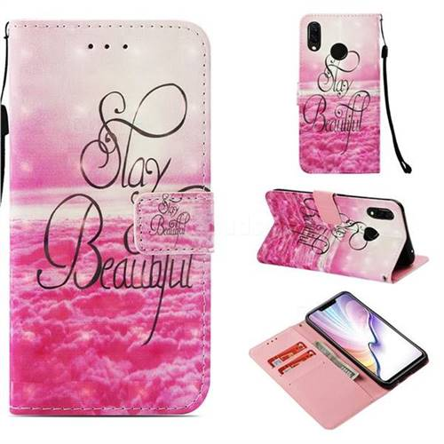 Beautiful 3D Painted Leather Wallet Case for Huawei Nova 3i