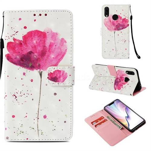 Watercolor 3D Painted Leather Wallet Case for Huawei Nova 3i