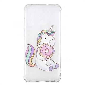 Donut Unicorn Anti-fall Clear Varnish Soft TPU Back Cover for Huawei nova 4