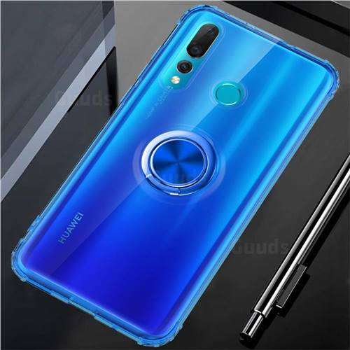 Anti-fall Invisible Press Bounce Ring Holder Phone Cover for Huawei nova 4 - Sapphire Blue