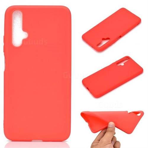 Candy Soft TPU Back Cover for Huawei Nova 5 / Nova 5 Pro - Red
