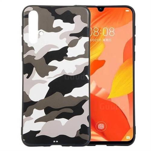 Camouflage Soft TPU Back Cover for Huawei Nova 5 / Nova 5 Pro - Black White