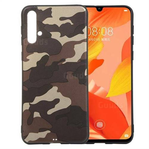 Camouflage Soft TPU Back Cover for Huawei Nova 5 / Nova 5 Pro - Gold Coffee
