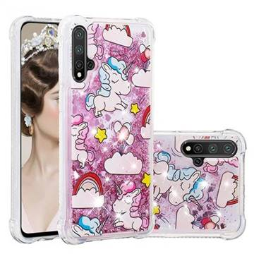 Angel Pony Dynamic Liquid Glitter Sand Quicksand Star TPU Case for Huawei Nova 5 / Nova 5 Pro