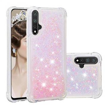 Dynamic Liquid Glitter Sand Quicksand TPU Case for Huawei Nova 5 / Nova 5 Pro - Silver Powder Star