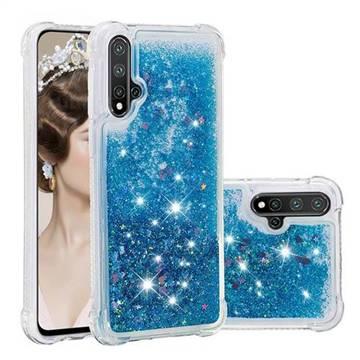 Dynamic Liquid Glitter Sand Quicksand TPU Case for Huawei Nova 5 / Nova 5 Pro - Blue Love Heart